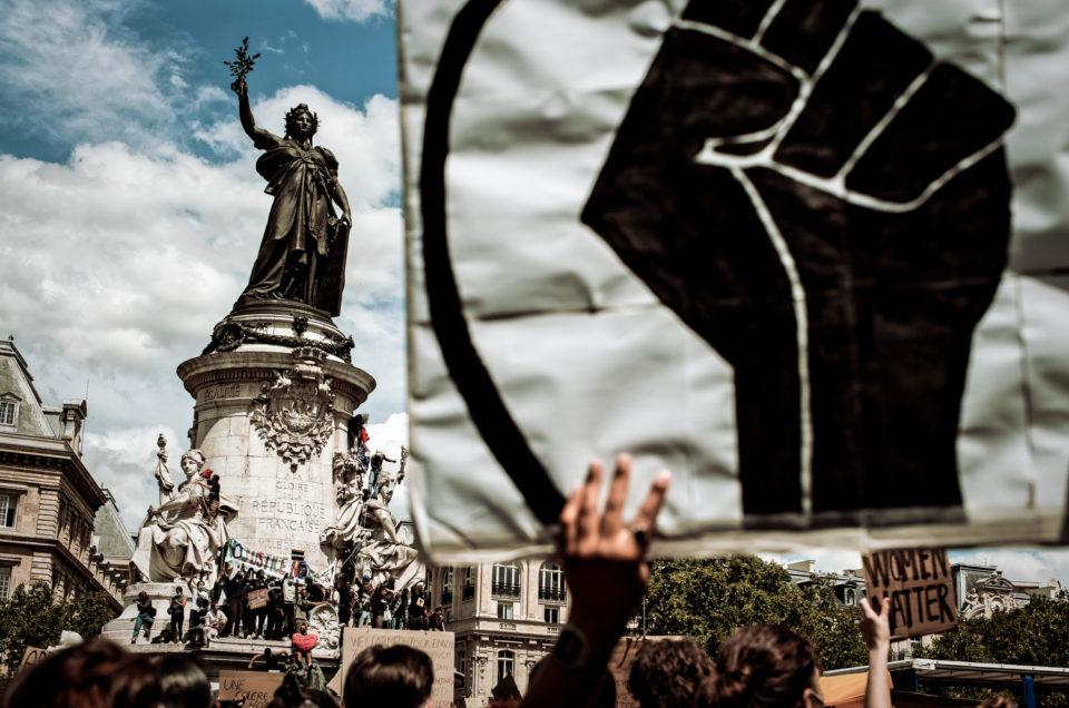Rassemblement contre le racisme Place de la République, le 13 juin