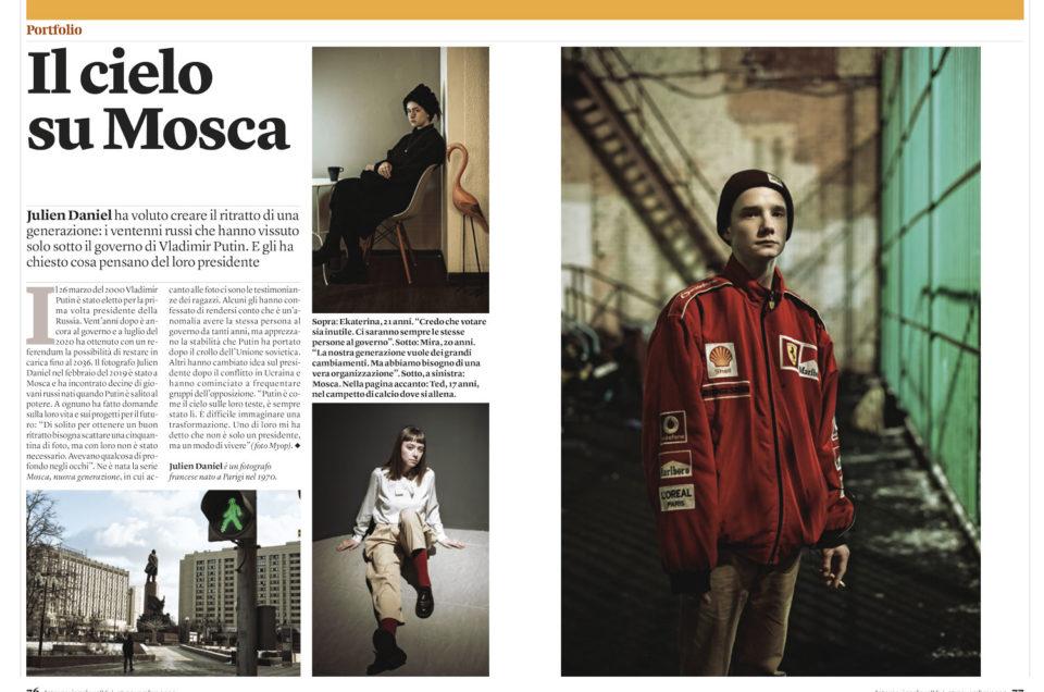 Moscou. Publication d'un portfolio dans Internazionale (Italie)